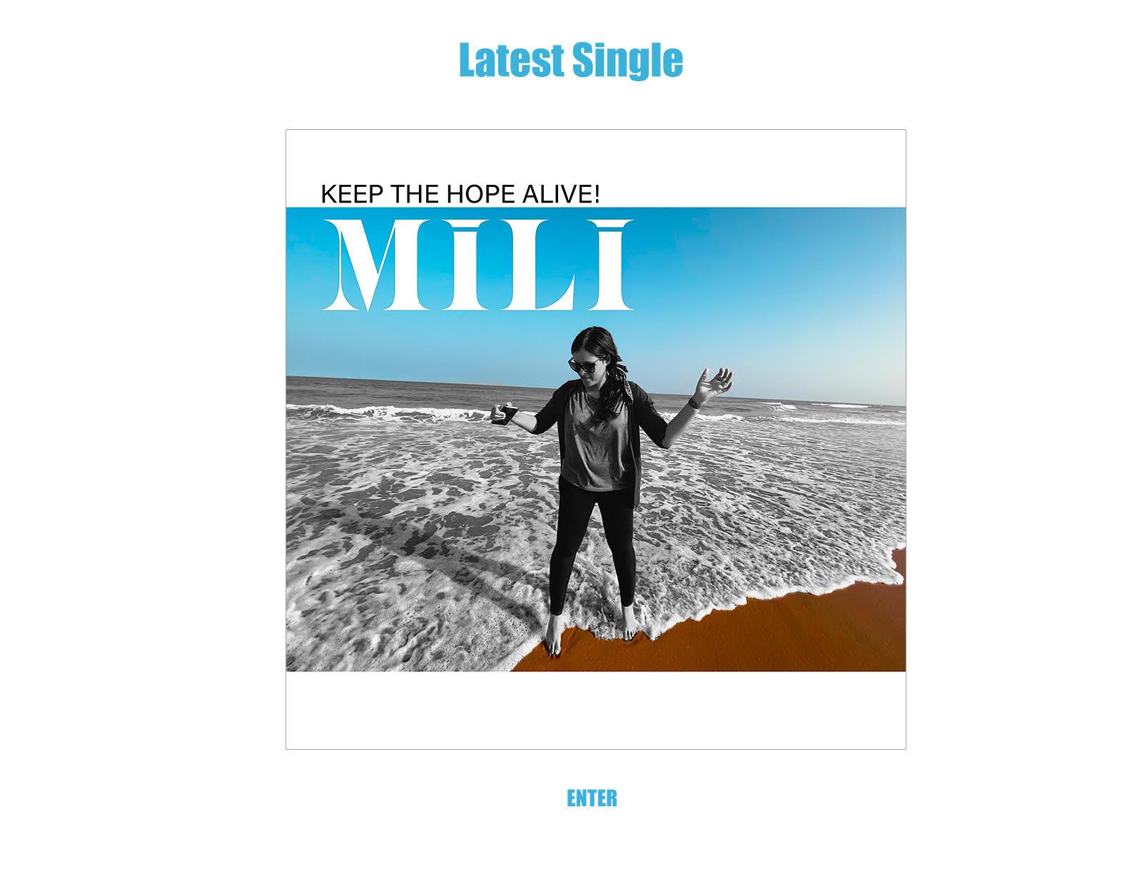 Mili's New Album - Keep the Hope Alive